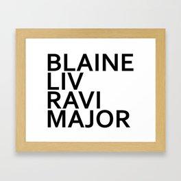iZombie Major Playas Framed Art Print