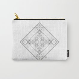 Black and white fine lines alchemic geometry Carry-All Pouch