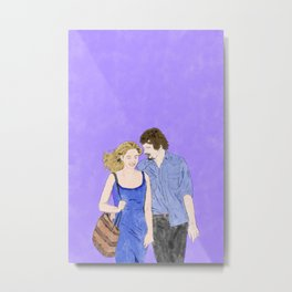 Before Midnight - Watercolor Metal Print