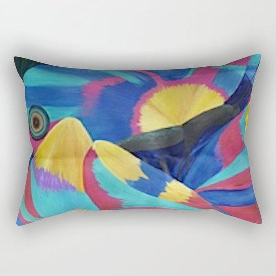 Butterfly Fish Birds Rectangular Pillow