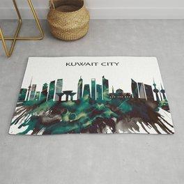 Kuwait City Skyline Rug