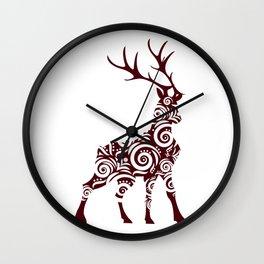 ornamental stag Wall Clock