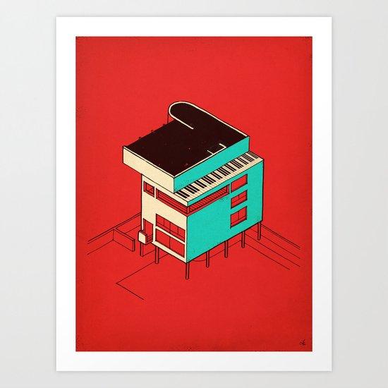 Music & Architecture Art Print