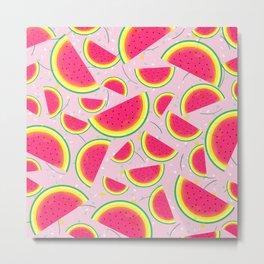Melon Fiesta Pattern Metal Print