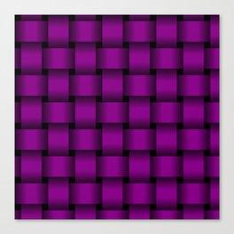 Large Purple Violet Weave Canvas Print