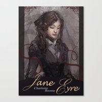 jane eyre Canvas Prints featuring Jane Eyre by Alicia Froelicher