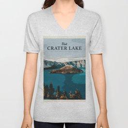 Visit Crater Lake Unisex V-Neck