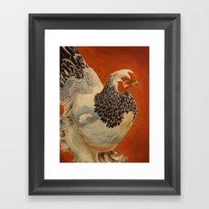 Delaware Hen Framed Art Print