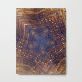 Wood Star Mandala #1 Metal Print