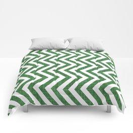 Canadian Wildlife Chevron Emerald Comforters