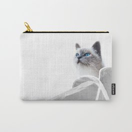 White Cat on the Roof Carry-All Pouch