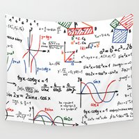 math Wall Tapestries featuring Math Cheat Sheet by PixelStory