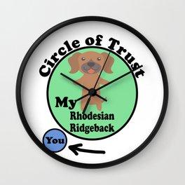 Circle Of Trust Cute Rhodesian Ridgeback Wall Clock