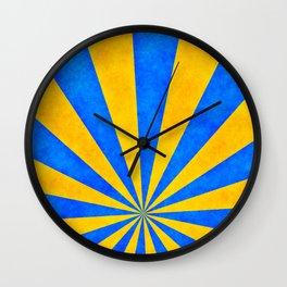 Retro rays Wall Clock