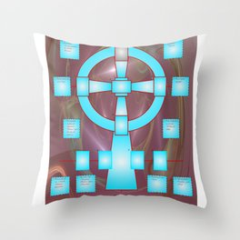 the celtic cross for universal tarot Throw Pillow