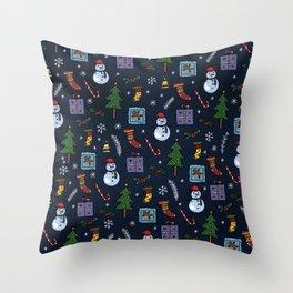 Christmas Holiday Celebration Throw Pillow