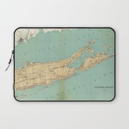 Vintage Map of Suffolk County NY (1895) Laptop Sleeve