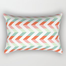 Chevron Raspberry and Peach - Geometric pattern  Rectangular Pillow