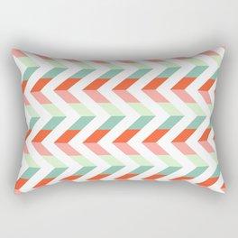 Chevron Raspberry and Peach - Geometric pattern  Rectangular Pillow