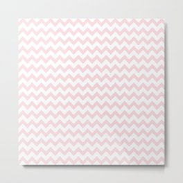 Light Pink Zig Zags Metal Print
