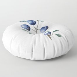 Blackthorn Blue Berries Floor Pillow