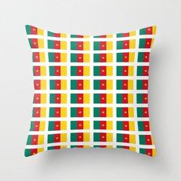 flag of cameroun -cameroun,cameroon,Cameroonian,camerounais,camerun, yaoundé,douala. Throw Pillow