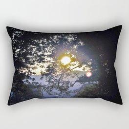 Sun Setting through Banches Rectangular Pillow