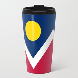 Denver, Colorado city flag - Authentic High Quality Travel Mug