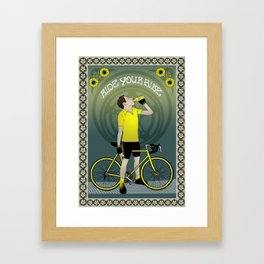 Ride Your Bike Framed Art Print