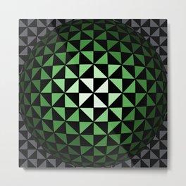Healing Green Sphere Metal Print