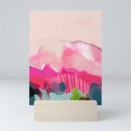 pink mountain Mini Art Print