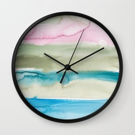 2   | Abstract Minimal Watercolor Painting | 191222 Wall Clock