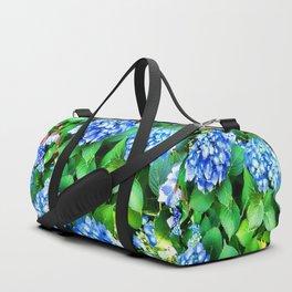 Spring In The Air - Blue Hydrangea Duffle Bag