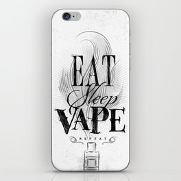 Poster eat sleep vape iPhone Skin