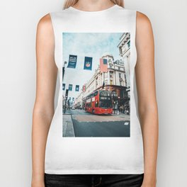 London Bus at Piccadilly Square by James Connolly Biker Tank