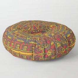 Aztec sun Floor Pillow
