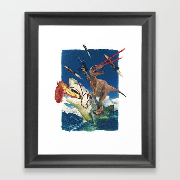 Crazy Raptor Gerahmter Kunstdruck