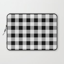 Black and White Check Laptop Sleeve