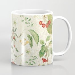 Cherries On Distressed Vintage Background Coffee Mug