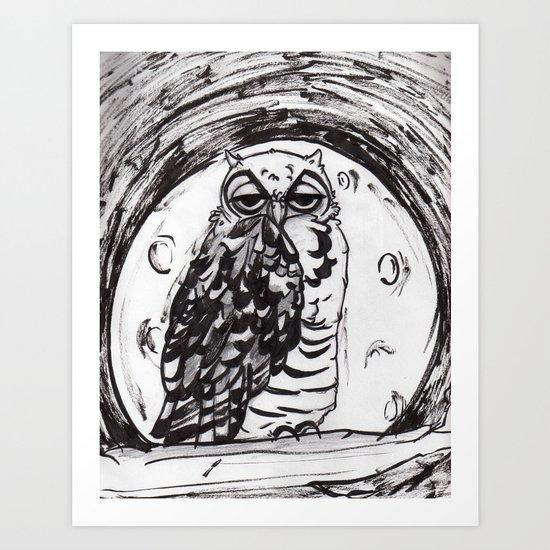Night Owl v.1 Art Print