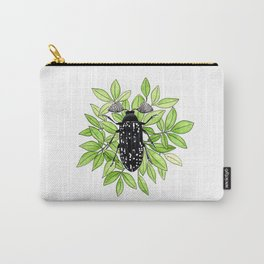 Feather Horned Beetle Carry-All Pouch