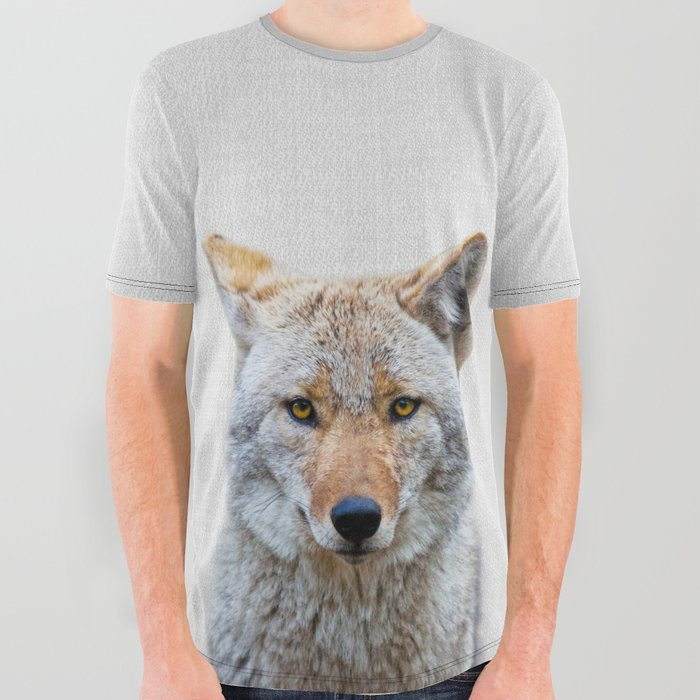 Coyote__Colorful_All_Over_Graphic_Tee_by_Gal_Design__Small