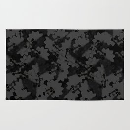 No.2 - Beauty isn't only skin deep / After the Mona comes.... - BLACK on BLACK Pattern Rug