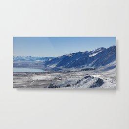 A Light Dusting at Mono Lake Metal Print