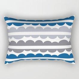 Mordidas Lapis Blue Rectangular Pillow