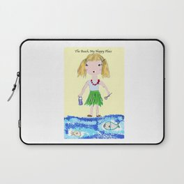 The Beach, My Happy Place Laptop Sleeve