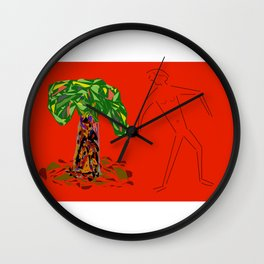 Tree With Male Wall Clock