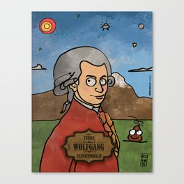 Wolfgang from Earth (Clavicembalo) Canvas Print