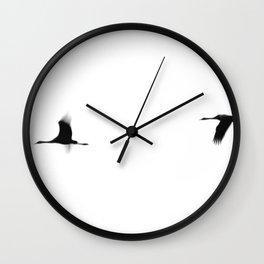 Crane(s) II Wall Clock