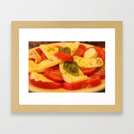 Caprese Salad Framed Art Print